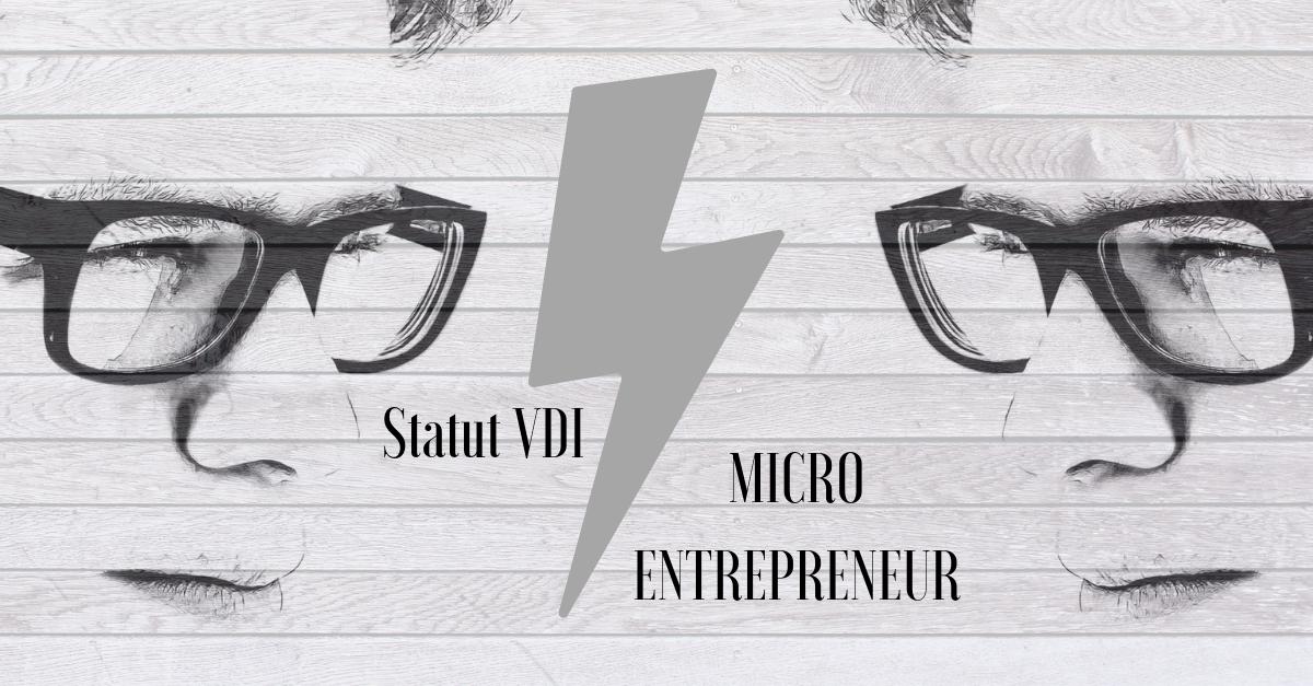 Statut Vdi Et Régime Micro Entrepreneur Comparatif Objectifvdi