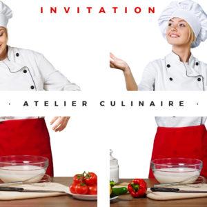 Invitation Atelier Culinaire